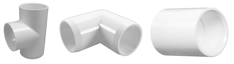 PVC connectors you will need in addition to the actual piping