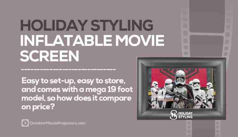Holiday Styling Inflatable Movie Screen Review