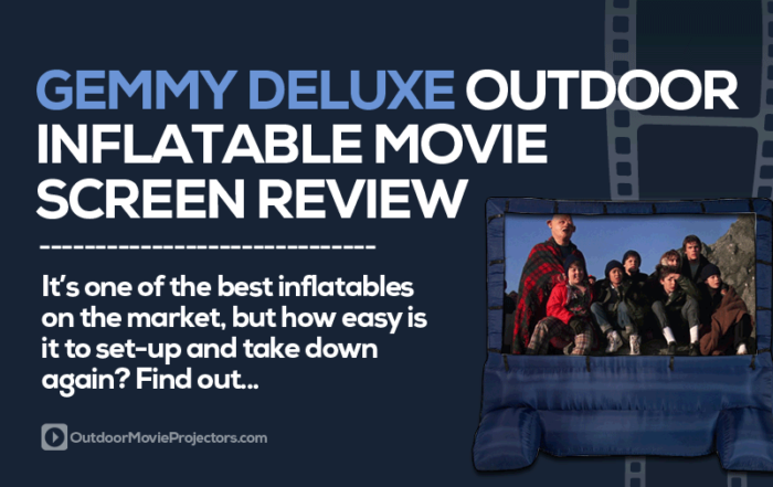 Gemmy Deluxe Outdoor Inflatable Movie Screen Review