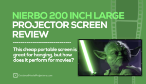 Nierbo 200 Inch Large Projector Screen Review