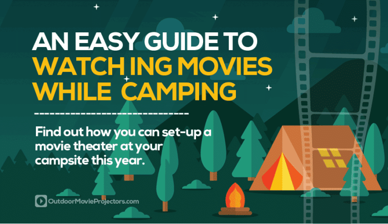 Watching movies whilst camping